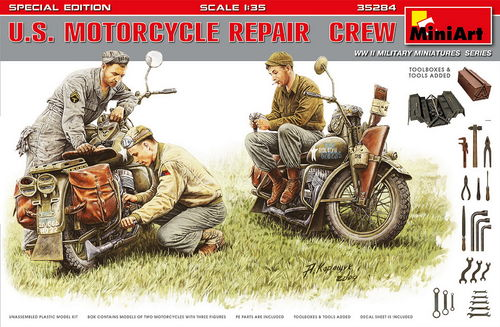 US Motorcycle Crew, Special Edition, 1/35 Plastic Model Kit