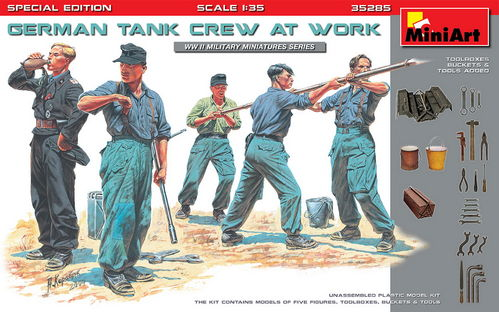 German Tank Crew at Work, Special Edition, Plastic Model Kit 1/35