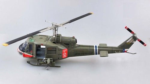 "UH-1C Huey, U.S. Army 174th Assault Helicopter Company ""Shark"", 1/18 Sammlermodell"
