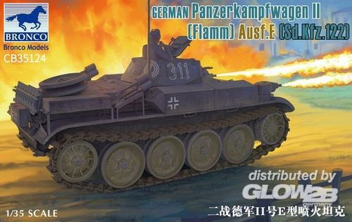 Pz.Kfw. II Flamm, Ausf. E (Sd.Kfz. 122), 1/35 Plastic Model Kit