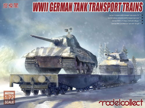 German Tank Transport Train, Plastic Kit 1/72