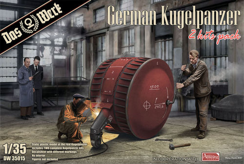 German Kugelpanzer, WWII, 2 Kits Pack, 1/35 Scale Plastic Kit