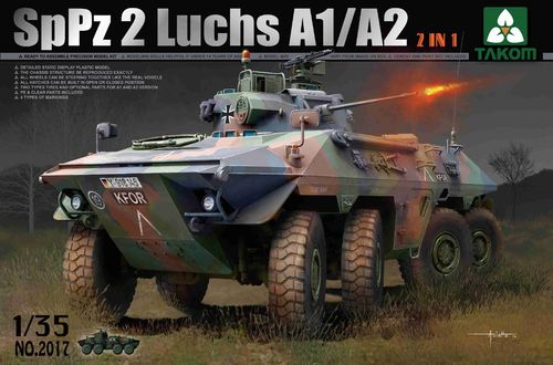 SpPz2 A1/A2 Luchs, German Armored Vehicle, Plastic Kit 1/35