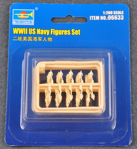 US Navy Figuren Set, WWII, 1/200 Plastikbausatz