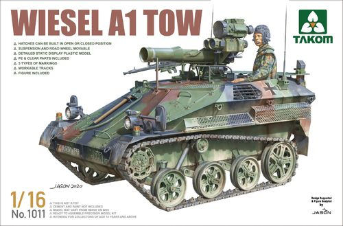 Wiesel A1 with TOW, German Bundeswehr, Plastic Model Kit 1/16 scale
