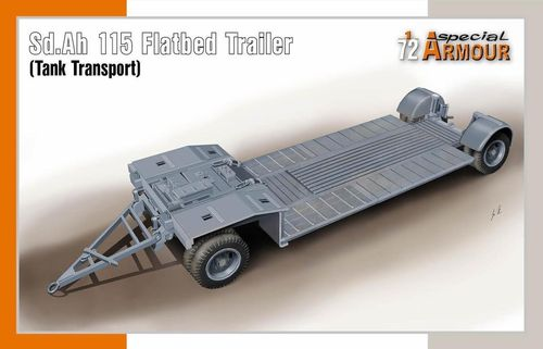 Sd.Ah. 115 Flatbed Trailer (Tank Transport), German Army, Plastic Kit 1/72